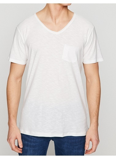 Koton V Yaka Tişört Beyaz